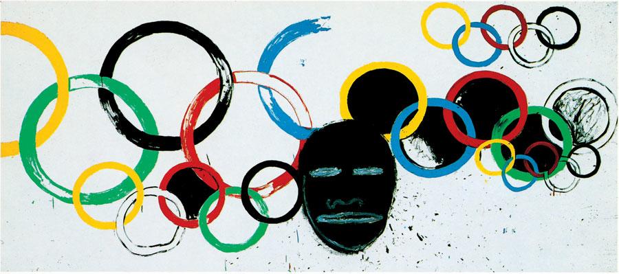 """Olympic Rings"" (1985), de Jean-Michel Basquiat e Andy Warhol"