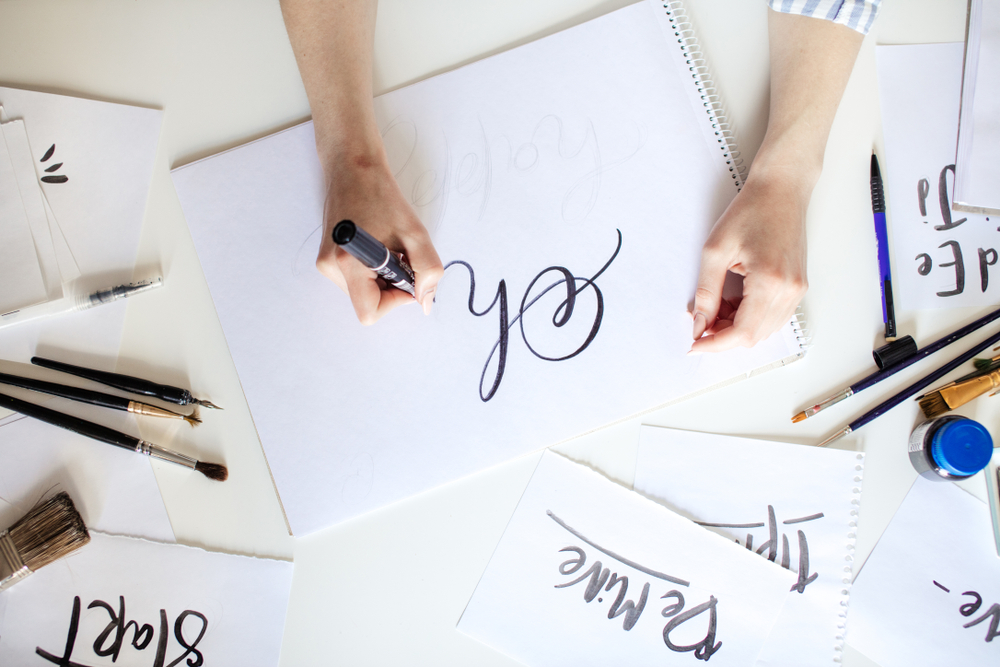 falso lettering